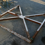 Lifting frame (for lifting boats with straps)